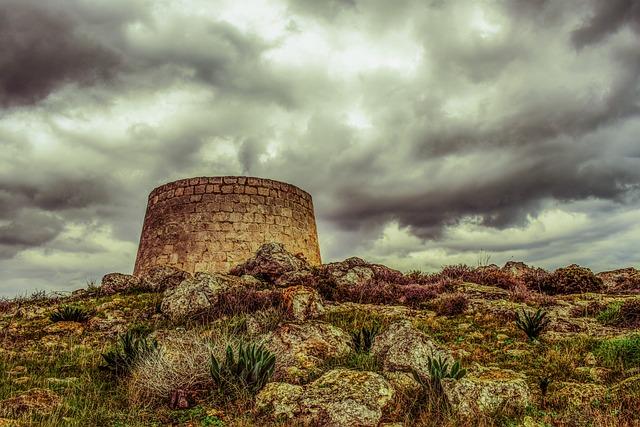 Cyprus, Xylofagou, Watchtower, Medieval, Stone, Sky