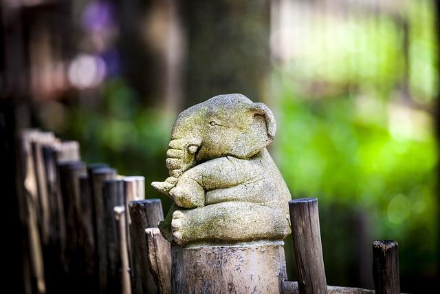 Elephant Statue, Elephant, Stone, Stone Figure