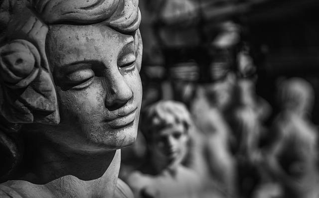 Sculpture, Angel, Stone, Figure, Hope, Faith, Cemetery