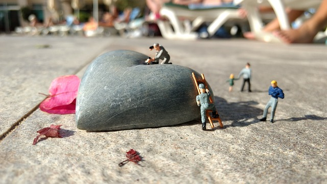 Mother's Day, Heart, Miniature Figures, Stone