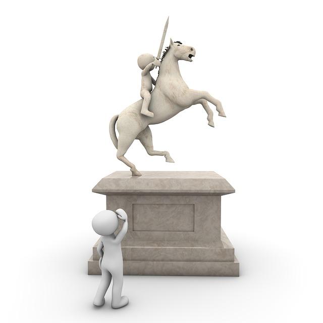 Monument, Reiter, Horse, Force, Globe, Stone, Sculpture