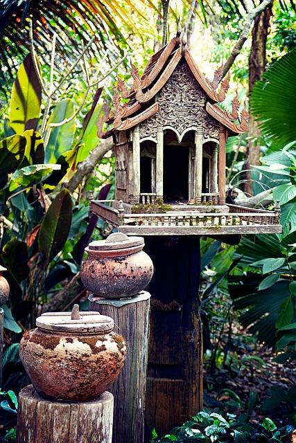 Chiang Rai, Thailand, Asia, Cottage, Park, Stone House