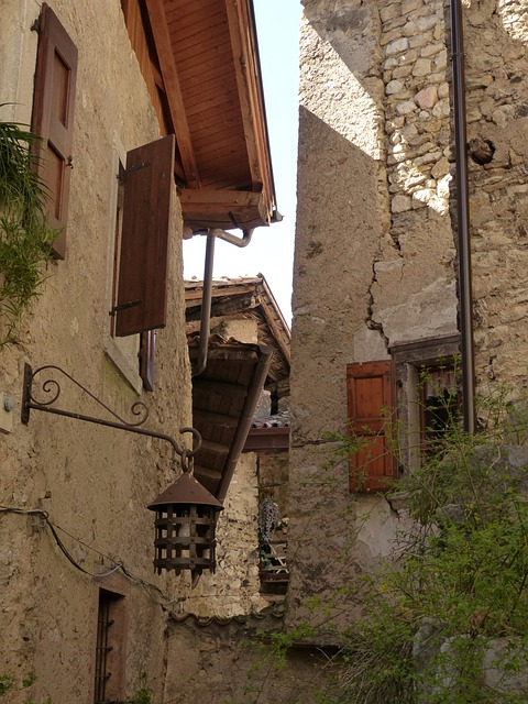 Alley, Houses Gorge, Homes, Stone Houses