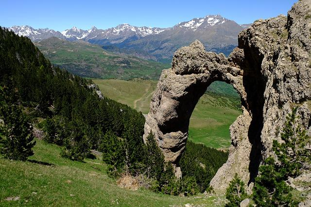 Pyrenees, Lake, Landscape, Mountains, Arc, Stone