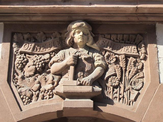 Stone Masonry, Saarbruecken, Relief, Sculpture, Carving