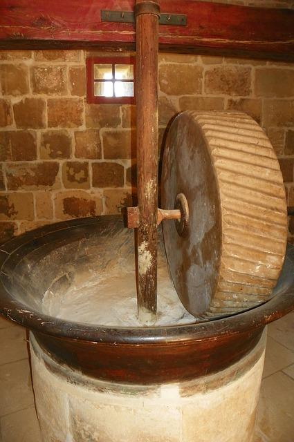 Flour, Mill, Millstone, Stone, Grinding, Milling, Old