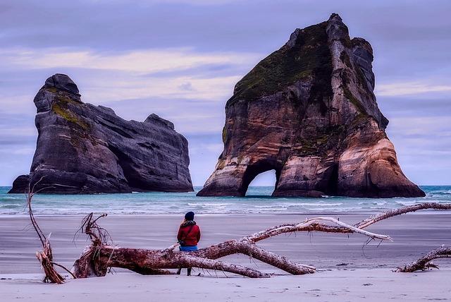 California, Sea, Ocean, Figure, Pacific, Rocks, Stone