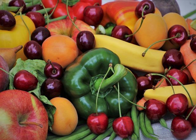 Paprika, Diet, Sweet Cherry, Cherries, Food, Stone, Bio