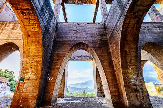 Architecture, Arches, Perspective, Stone, Lost Places