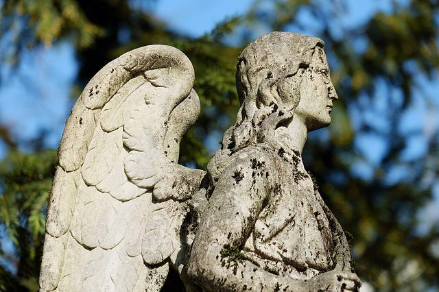 Angel, Figure, Stone Figure, Sculpture, Stone