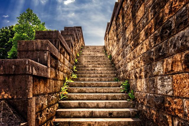 Stairs, Stone, Gradually, Stone Stairway, Staircase