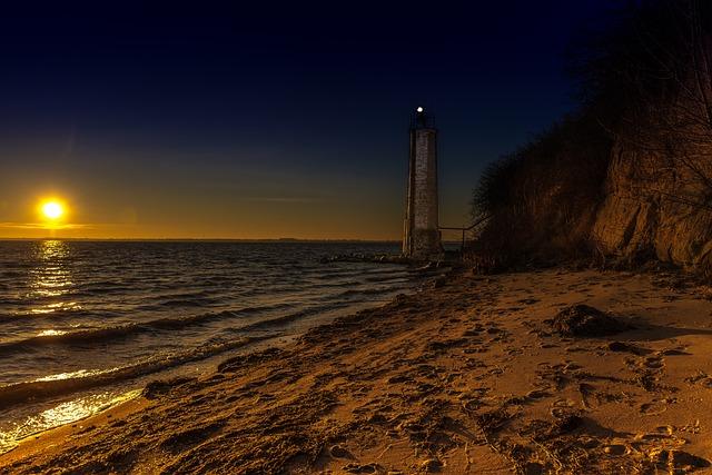 Baltic Sea, Western Pomerania, Stone Tower, Lighthouse