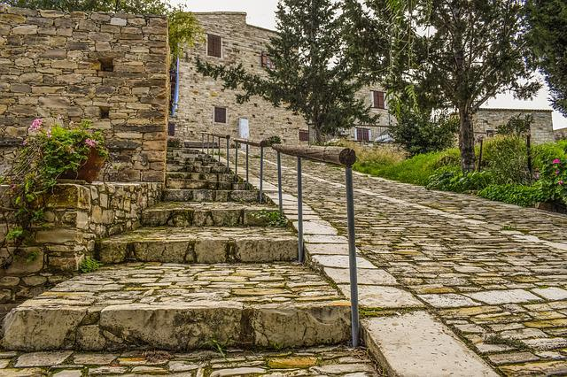 Architecture, Traditional, Street, Stairs, Wall, Stone