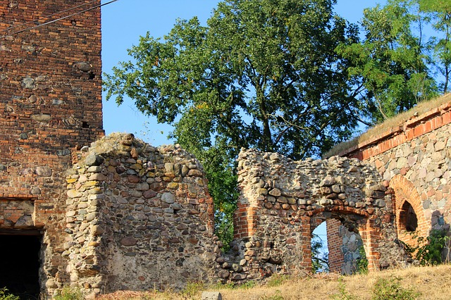 The Ruins Of The, Stone Wall, Castle, Architecture, Old