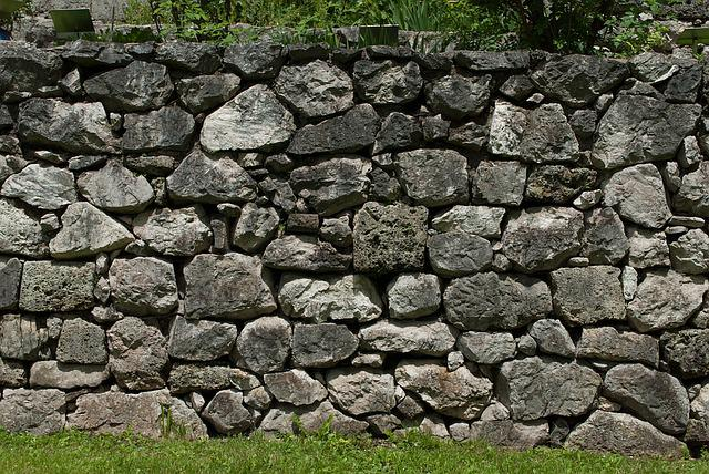 Stone Wall, Wall, Garden, Nature, Texture