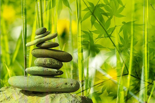 Meditation, Balance, Rest, Stone, Zen, Stones, Leaves