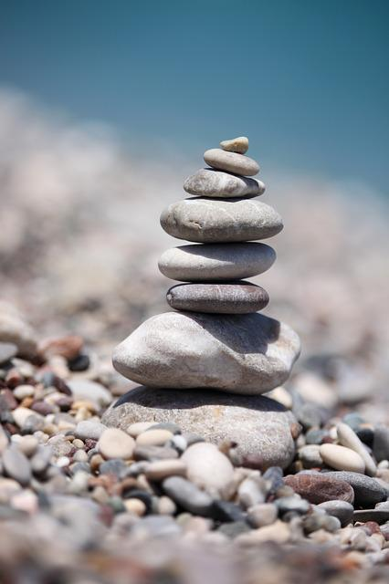 Balancing, Stones, Beach, Stacked, Sea, Summer, Stone