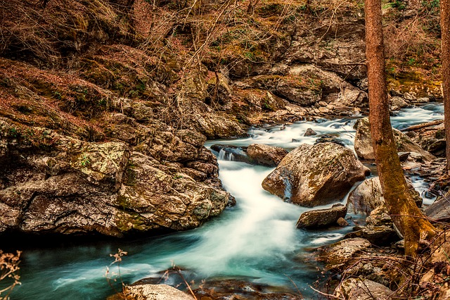 Stream, Creek, Brook, Water, Rocks, Stones, Boulders