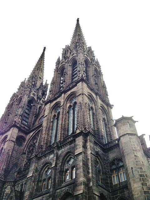 Clermont-ferrand, Cathedral, Black, Stones