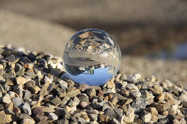 Glass Ball, Building, Stones, Pebble