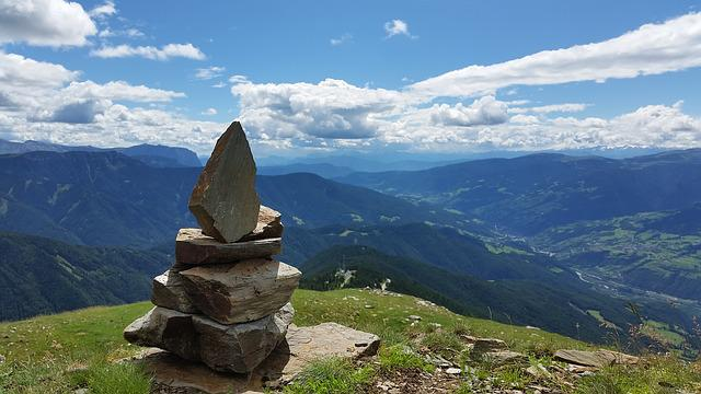 Stones, Mountains, Italy, Sky, Landscape, Summit
