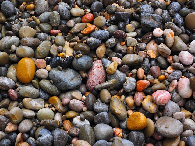 Pebbles, Stones, Colorful Roundish, Color, Colorful