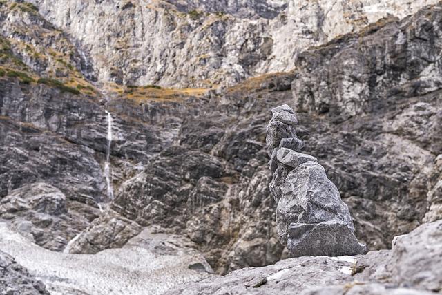 Cairn, Stones, Rock, Mountains, Waterfall, Alpine