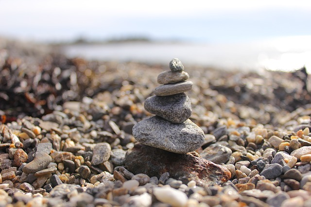 Stones, Beach, Pebble, Water, Stone Tower