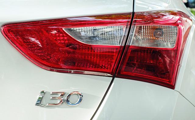 Auto, Back Light, Stop Lamp, Red, Hyundai I30