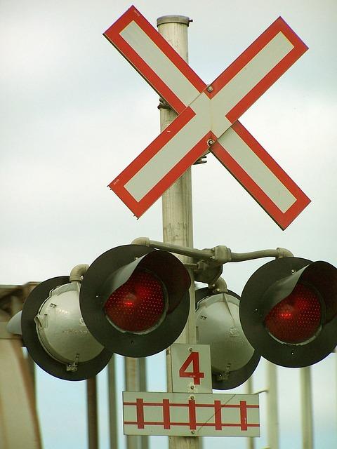 Railway, Railroad, Railway Crossing, Train, Stop