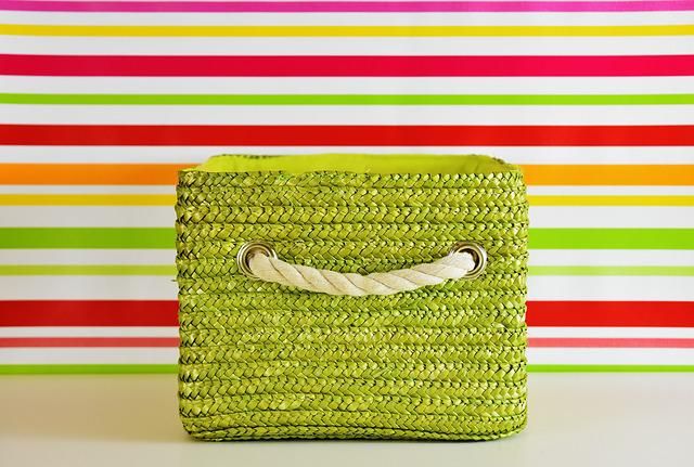 Basket, Green, Colorful, Storage, Decoration