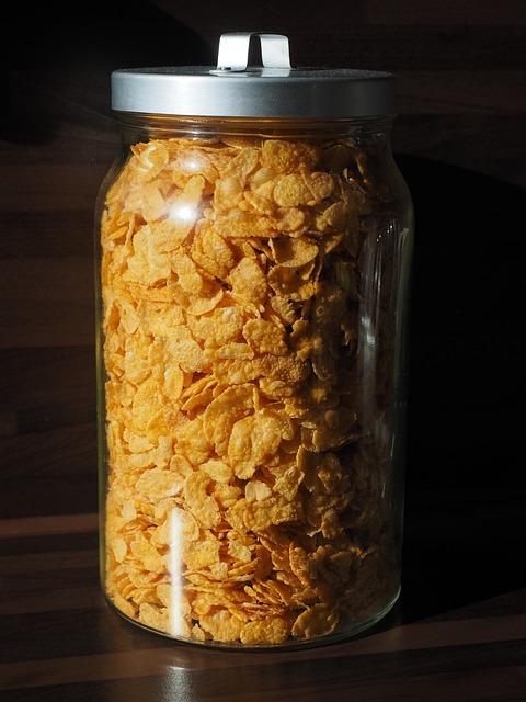 Cornflakes, Eat, Breakfast, Glass, Storage