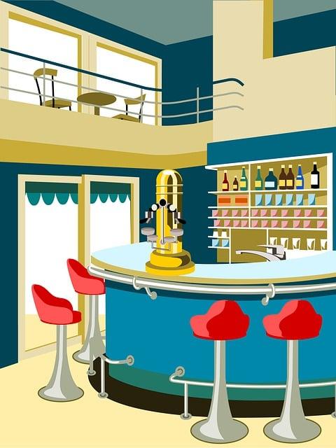 Cafe Bar, Espresso Machine, Pub, Counter, Store