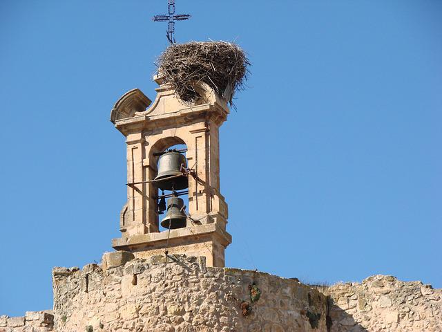 Bell Tower, Stork Nest, Old, Cruz