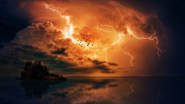 Thunderstorm, Sea, Clouds, Forward, Island, Storm, Sky
