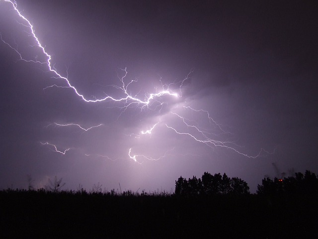 Lightning, Storm, Night, Firebird, Hortobágy