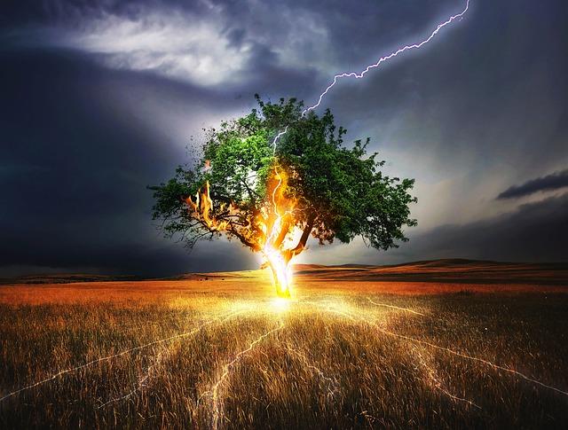 Flash, Lightning Weft, Impact, Weather, Storm, Gloomy