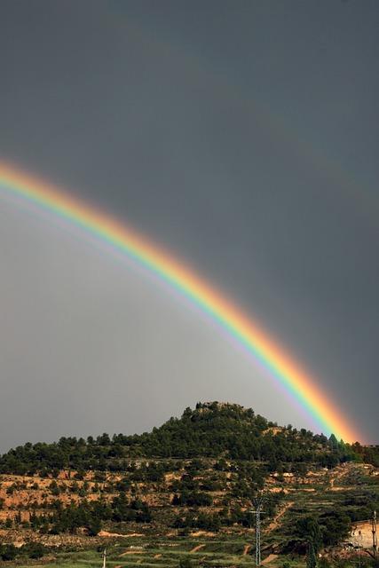 Rainbow, Rain, Sky, Storm