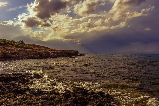Storm, Stormy Clouds, Dramatic, Rocky Coast, Landscape