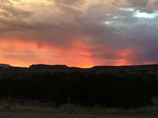 New Mexico, Storm, Sunset