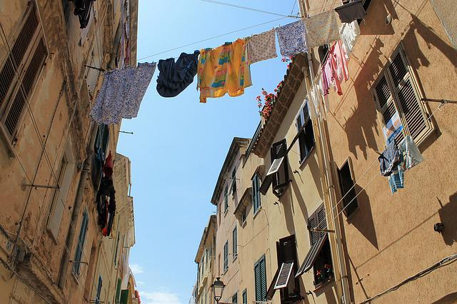 Italy, Alghero, Washing, Old, Himmel, Building, Story