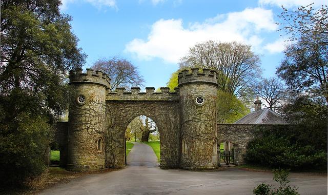 Castle, Goal, Stourhead, England, South Gland, Input