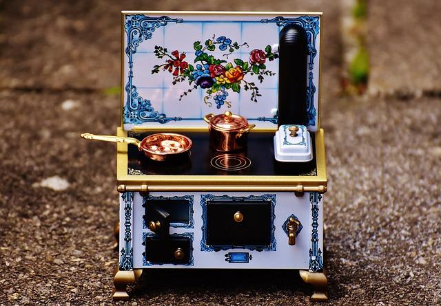 Stove, Oven, Sheet, Dolls Houses, Dolls Furniture, Heat