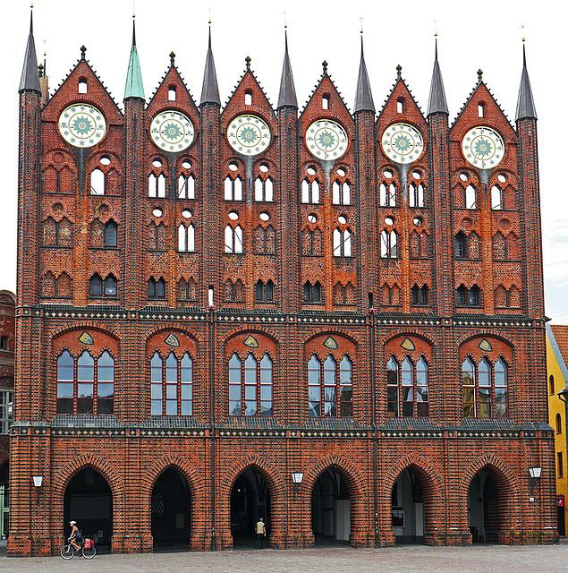 Stralsund, Town Hall, Gable, Marketplace