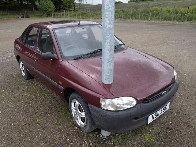 Auto, Lamp Post, Strange, Parking, Immobilizer