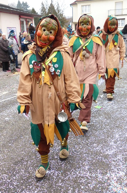 Shrove Monday, Strassenfasnet, Wooden Mask, Guild Group