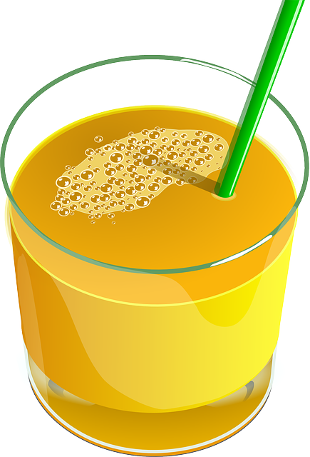 Juice, Orange, Drink, Beverage, Glass, Straw, Healthy