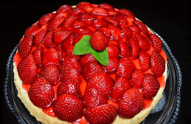 Strawberry Pie, Strawberries, Cake, Delicious, Bake