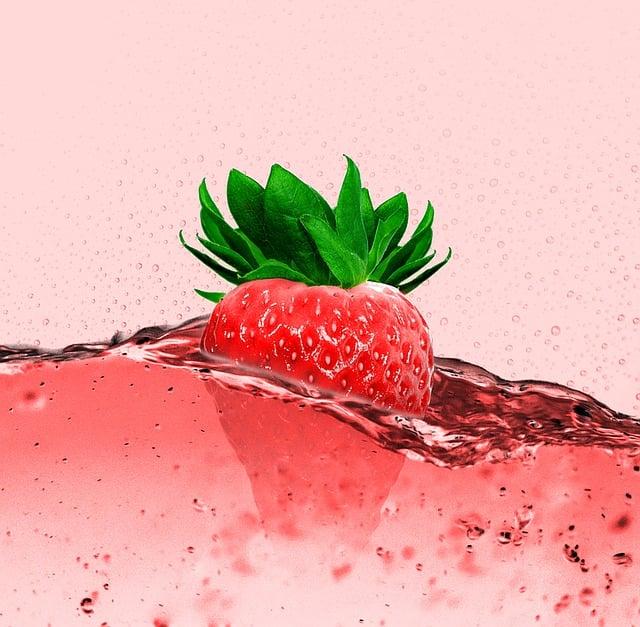 Strawberry, Strawberry Juice, Fruity, Drink, Fruit