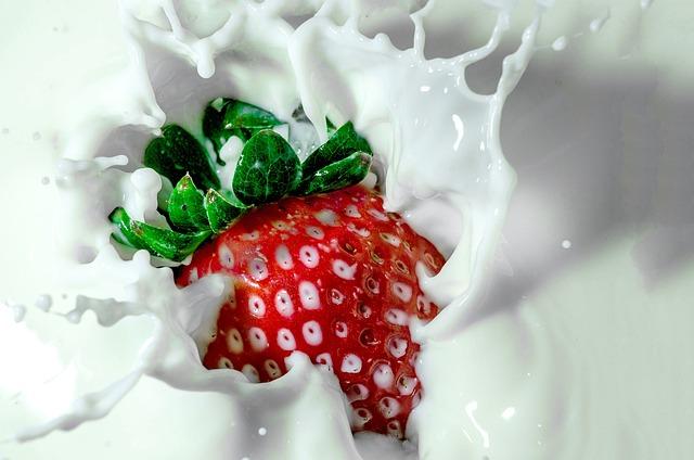 Strawberry, Milk, Strawberry Milk, Green, Red, White